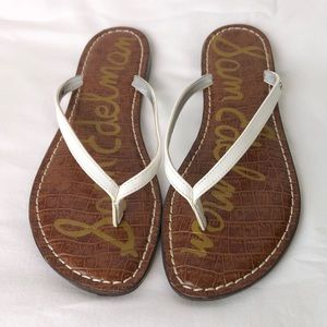 Sam Edelman White Gracie Flip Flop Sandals Sz 8.5